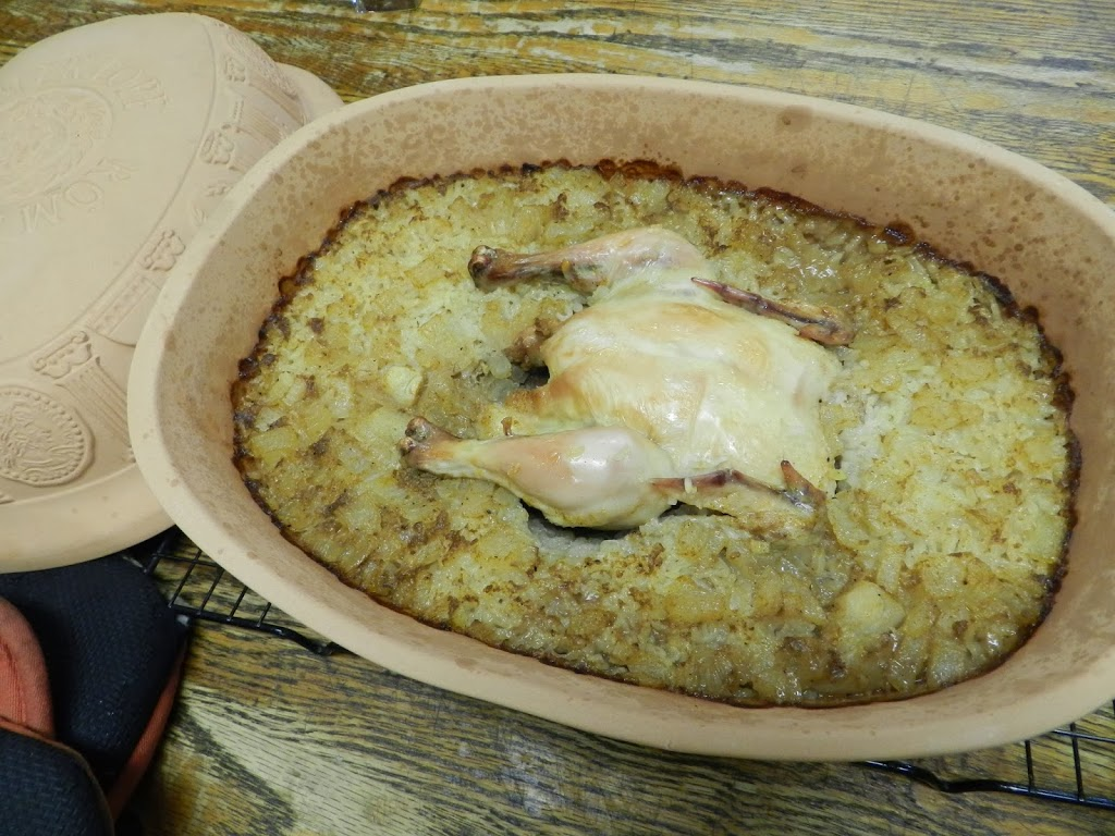 Portugese Chicken in a Clay Pot: A Photo